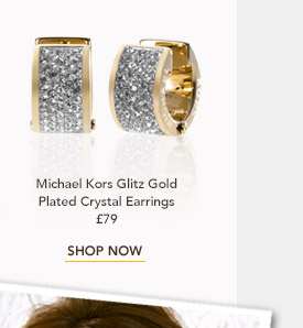 Michael Kors Glitz Gold Plated Crystal Earrings