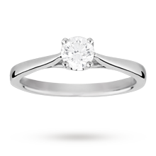 Canadian Ice solitaire brilliant cut 0.40 carat diamond ring set in 18 carat white gold