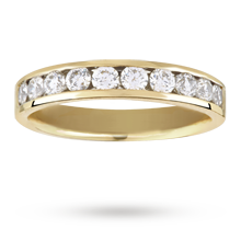 Canadian Ice 0.50 total carat weight brilliant cut 10 stone diamond eternity ring in 18 carat yellow gold