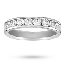 Canadian Ice 1.00 total carat weight brilliant cut 10 stone diamond eternity ring in platinum