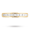 Brilliant cut 0.50 total carat weight diamond ring in 18 carat yellow gold