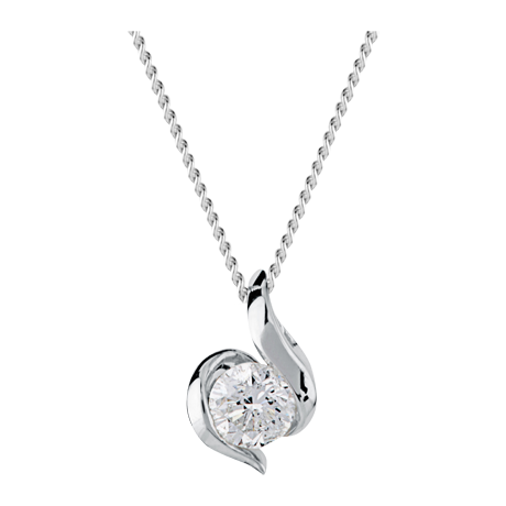 Canadian Ice 9ct Gold 0.25ct Wrapped In Love Diamond Pendant