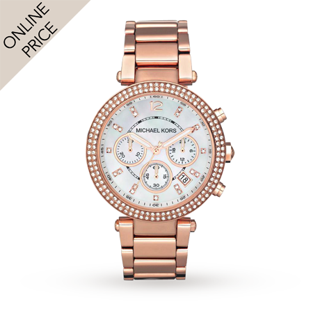 Michael Kors Holiday Rose Gold Plated Ladies Watch