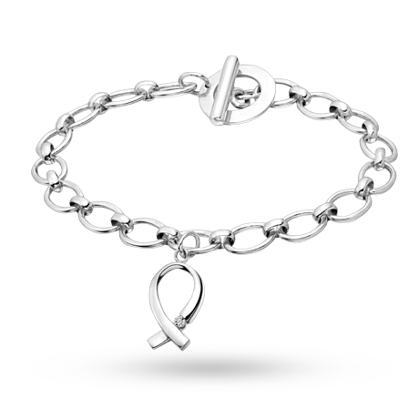 For Her - Canadian Ice Silver Diamond Bow Bracelet