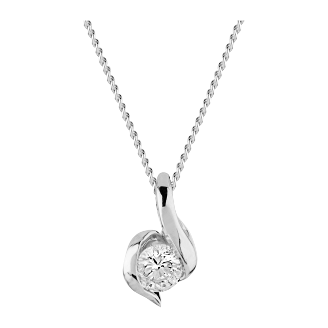 Canadian Ice 9ct Gold<br /> Wrapped In Love Diamond Pendant