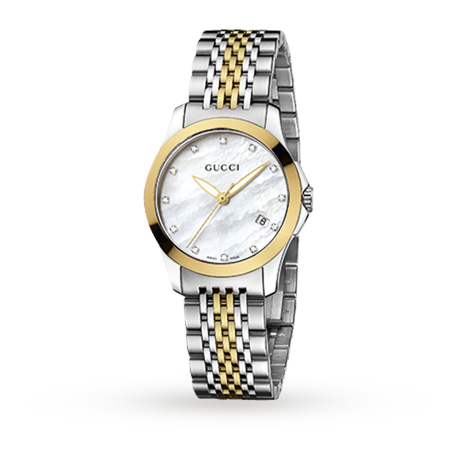 Gucci YA126513 Timeless Bi-Colour Ladies Watch
