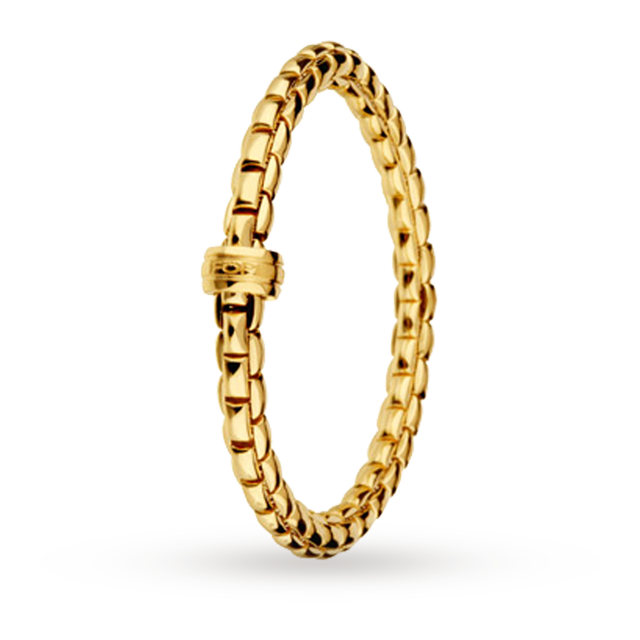 Fope 18ct Yellow Gold Flex It Bracelet