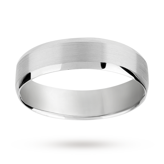 6mm brushed finish gents ring in palladium 950   Ring Size Q