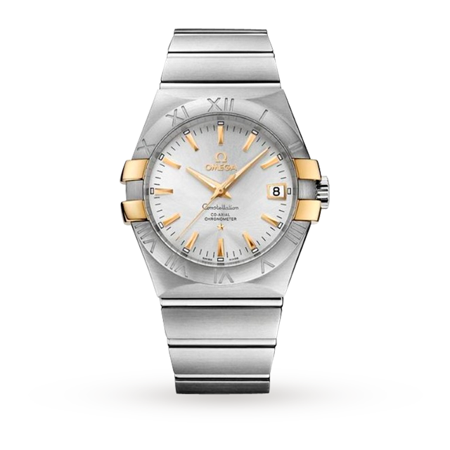 Omega Constellation Bi Colour Gents Watch