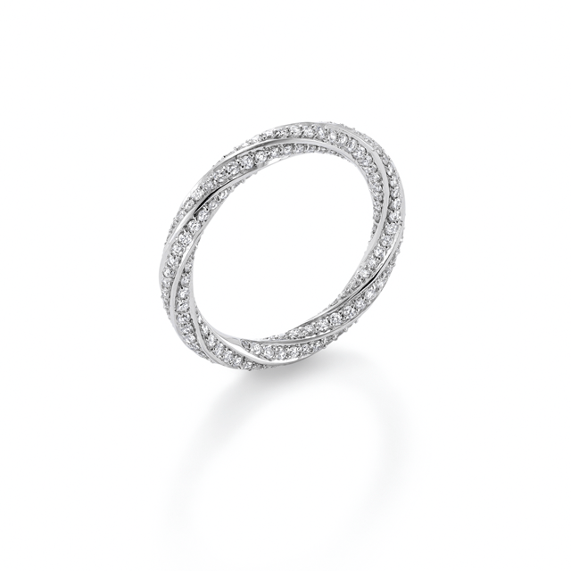Fortune White Gold Diamond Ring - Ring Size P