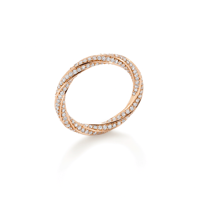 Fortune Rose Gold Diamond Ring - Ring Size N