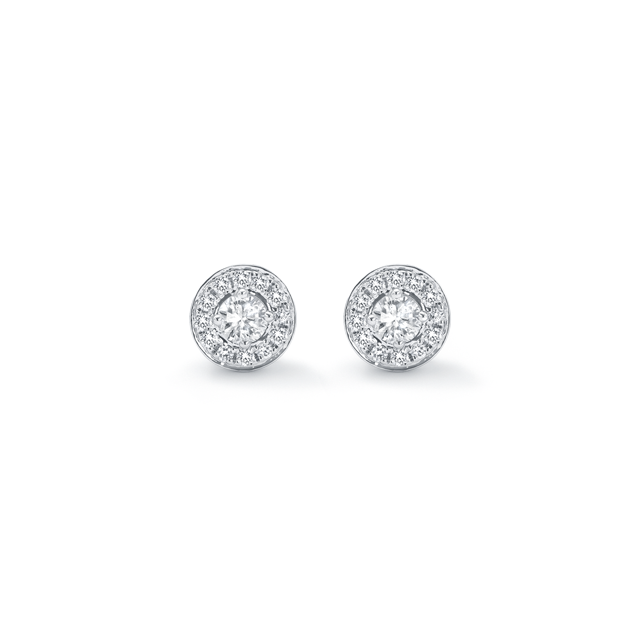 Classic White Gold and Diamond Stud Earrings