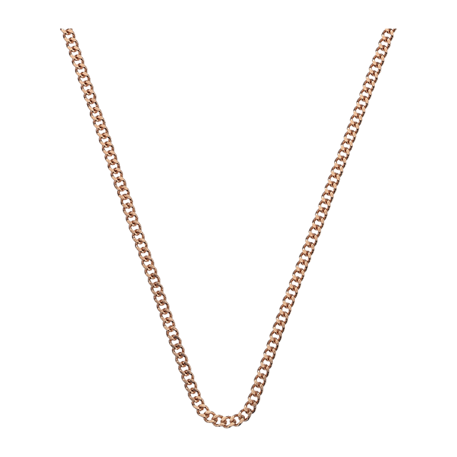 Emozioni Rose Gold Plated 30 Inch Trace Chain