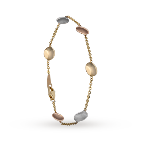 9ct Three Colour Gold<br /> Bracelet