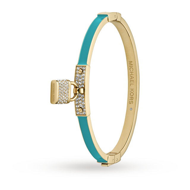 Michael Kors Turquoise<br /> Enamel Padlock Bangle