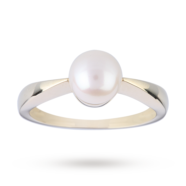 Fresh Water Pearl Ring in 9 Carat Yellow Gold