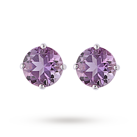 For Her - 9ct White Gold 1.20ct Amethyst Stud Earrings