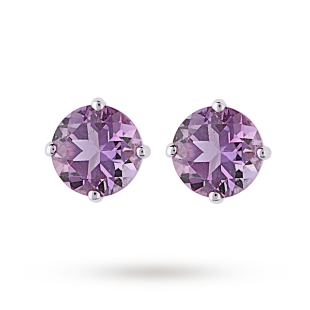 9ct White Gold 1.20ct Amethyst Stud Earrings