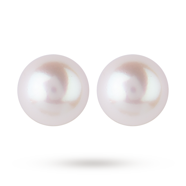 9ct White Gold 7.5-8mm Akoya Pearl Stud Earrings