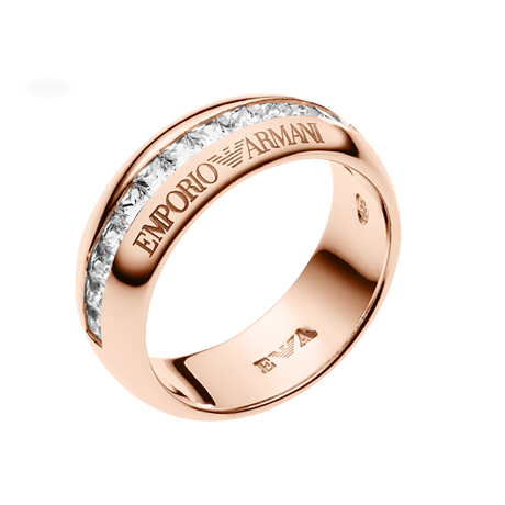Emporio Armani Pure Eagle Rose Gold Plated Ring  Ring Size M.5